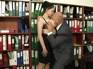 Extra Work For Busty Secretary