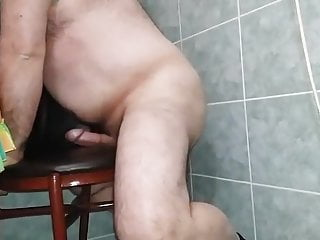 Turkish Daddy bear humping chair cumshot