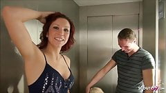 Elevator Foursome with German Teens after Party in Berlin