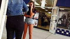 Candid voyeur girls jean shorts compilation
