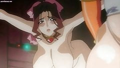 Busty anime sucks a shemale cock