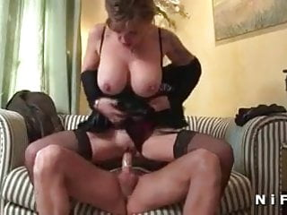 Huge titted mature hard banged