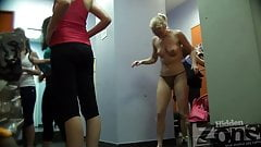Hidden camera in the women's locker room sports club.