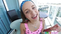 Beautiful teen Liza Rowe POV fucked from behind