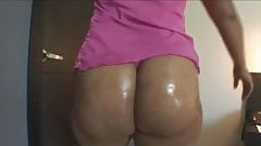 Shirley Oiled in White Nylons 2