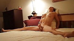 Amateur Legs Spread In Bed