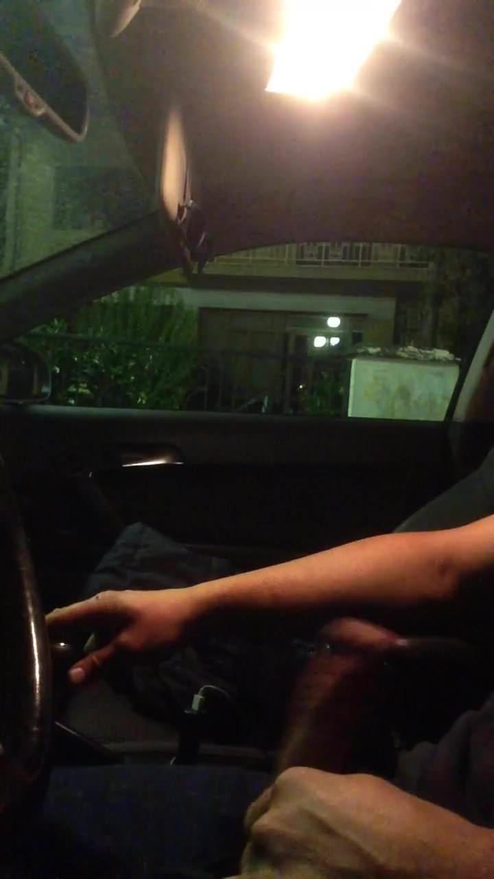 Public flash car watching milf1