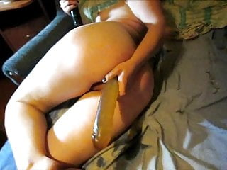 Lili masturbating with two big long dildos and cums!