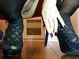 Adora le mie scarpe Schiavo!