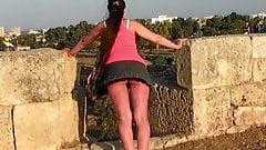 upskirt mini skirt