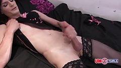 UK Tgirl Laura Smith in Lingerie