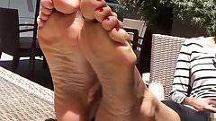 shy girl foot fetish