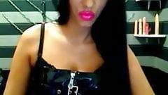 smoking lipstick and long nails