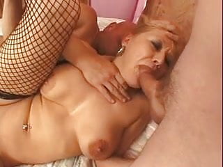 Hot Mature Cougar Takes Two FMM