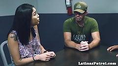 Latina immigrant cocksucking US officer