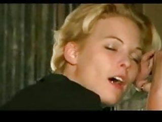 Skinny blonde girl massage