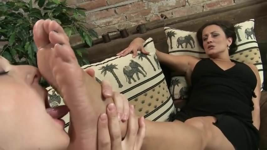 Nylons office bondage shoeplay video