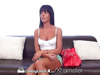 Hd Castingcouch X Brunette Rahyndee James With Perky Tits