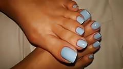 Pretty Blue Toes
