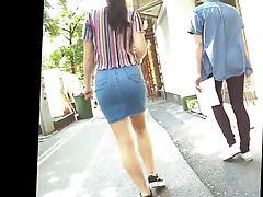 Great Ass In Tight Denim Skirt Candid 10.05.2018.'s Thumb