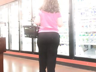 Round Butt Milf Black Pants with Curly Hair