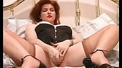 Redhead hot MILF fingers and toys