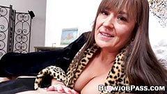 Busty MILF Elexis Monroe swallows big cock load POV