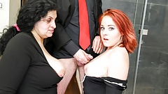 Maid Gets Jizzed By Grandparents on Her First Day