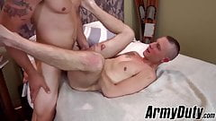 Homo soldier Cameron Vincent barebacked with virility