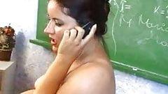 Filming his  Pregnant Teacher Masturbating In Classroom...F70