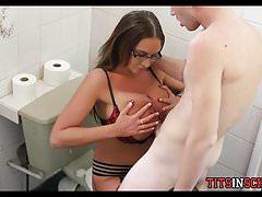 Big Cock Titty Fucking Big Breasts at School