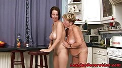 Euro lesbian orally pleasured by granny