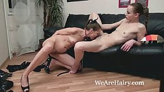 Victoria and Alisa Pie have dominating lesbian sex