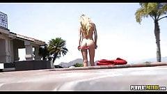 Spying on pool Girl