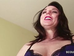 Mom Caught Step-Son And Helps with Fuck in her Ass