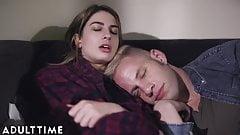 ADULT TIME Teenage Lesbian- Kristen Scott Peeps On Couple