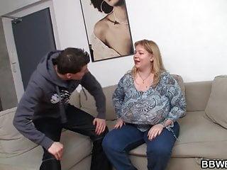 Busty fat ass plumper rides stranger's cock