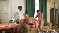 Two guys doing old bitch