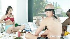 Private.com Yoga Babe Ginebra Bellucci DP'd By 2 B&W Cocks!