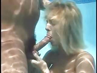 Underwater BJ  Sperm floating