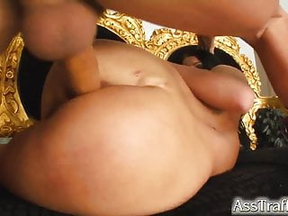 Hot babe crazy for anal sex has tight ass boned hard