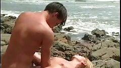 Allysin Chaynes on the beach