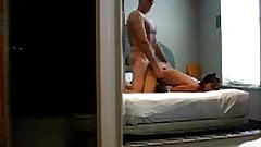 Old man fucks hottie in a hotel room