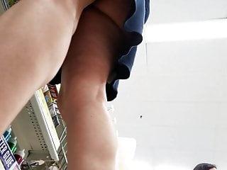 Asian bubble butt upskirt