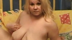 Fat chubby GF showing her plump ass and Pussy