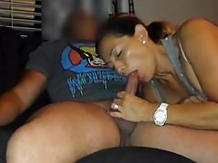 His wife suck the cum right out of my dick