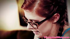 Redhead sub analized while straponfucked