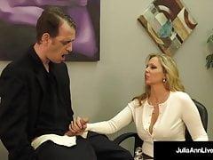 Busty Blonde Milf Julia Ann Milks Cum From Rock Hard Dick!