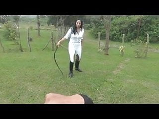 Mistress is Bull whippingslave