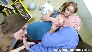 Brazzers - Step mom shows not daughter how to suck